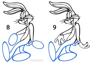 How To Draw Bugs Bunny Step 4