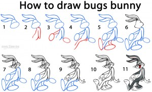 How To Draw Bugs Bunny Step by Step