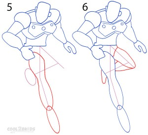 How To Draw Iron Man Step 3