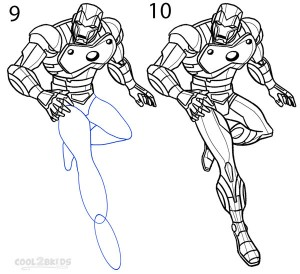 How To Draw Iron Man Step 5