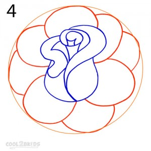 How To Draw a Realistic Rose Step 4