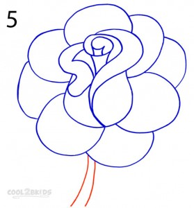 How To Draw a Realistic Rose Step 5