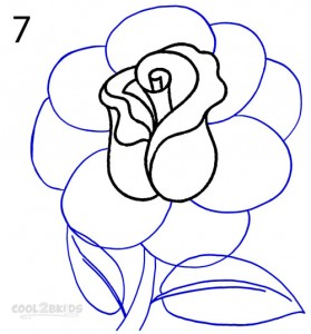 How To Draw a Realistic Rose Step 7