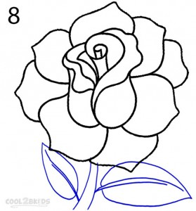 How To Draw a Realistic Rose Step 8
