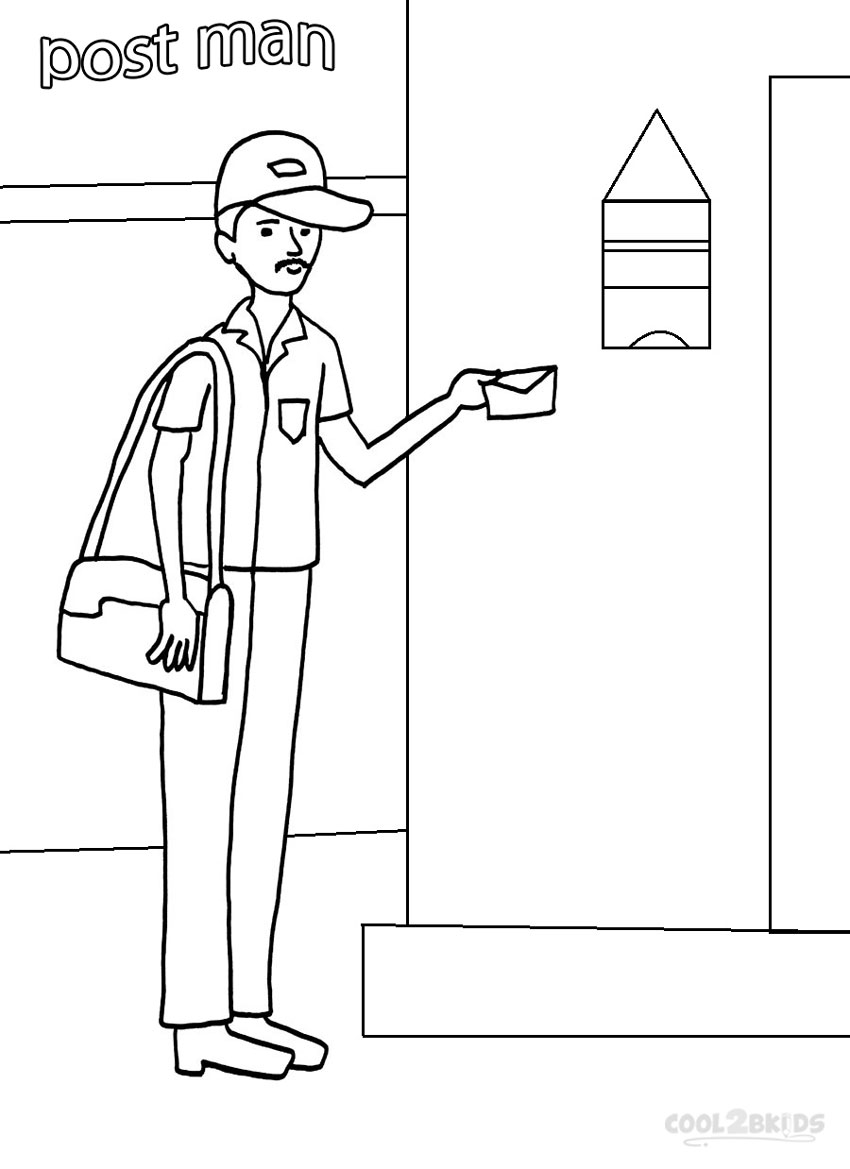 coloring pages community helper - photo#23