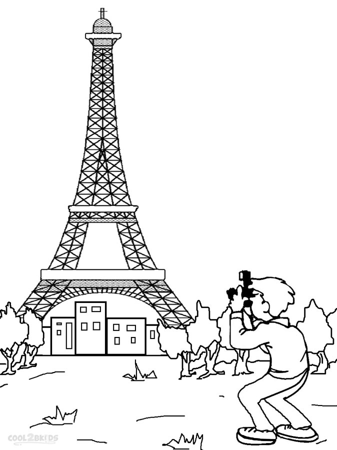 photo regarding Printable Pictures of the Eiffel Tower referred to as Printable Eiffel Tower Coloring Web pages For Small children Awesome2bKids