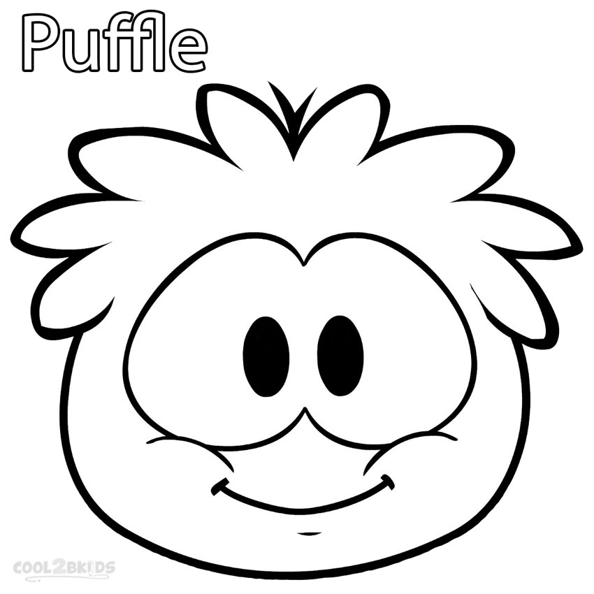 puffle coloring pages | Printable Puffle Coloring Pages For Kids | Cool2bKids