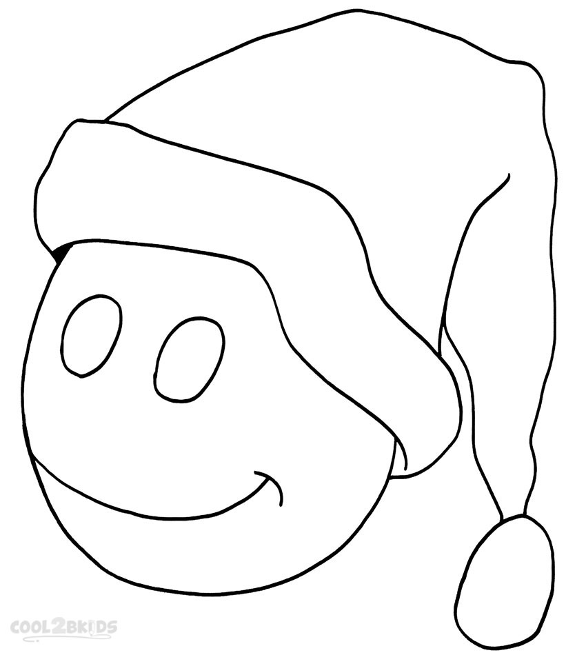 Printable Santa Hat Coloring Pages
