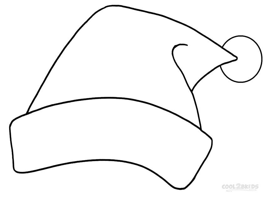 santa hat coloring pages new calendar template site