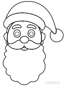 Santa Hat Coloring Pages for Kids