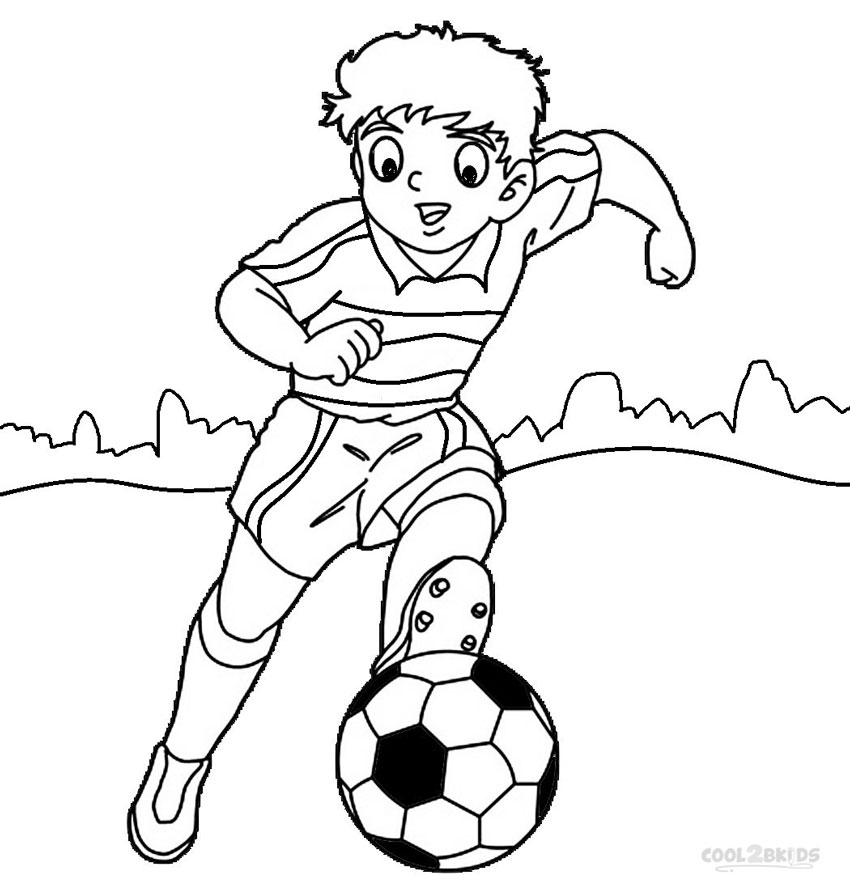 Printable football player coloring pages for kids cool2bkids for Soccer coloring pages for kids