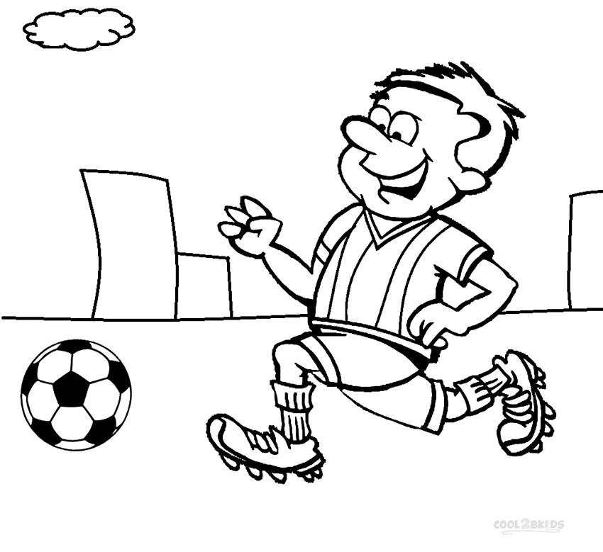 Sports coloring pages cool2bkids for Soccer coloring pages for kids