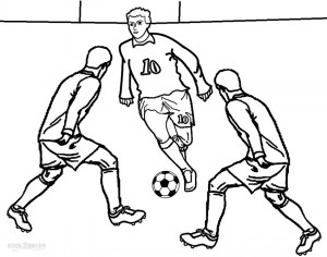 Football Player Coloring Sheet