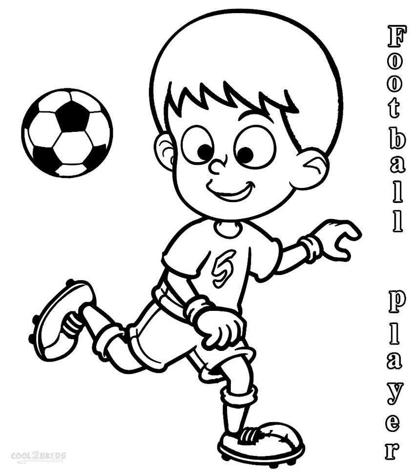 Printable football player coloring pages for kids cool2bkids for Soccer coloring pages to print