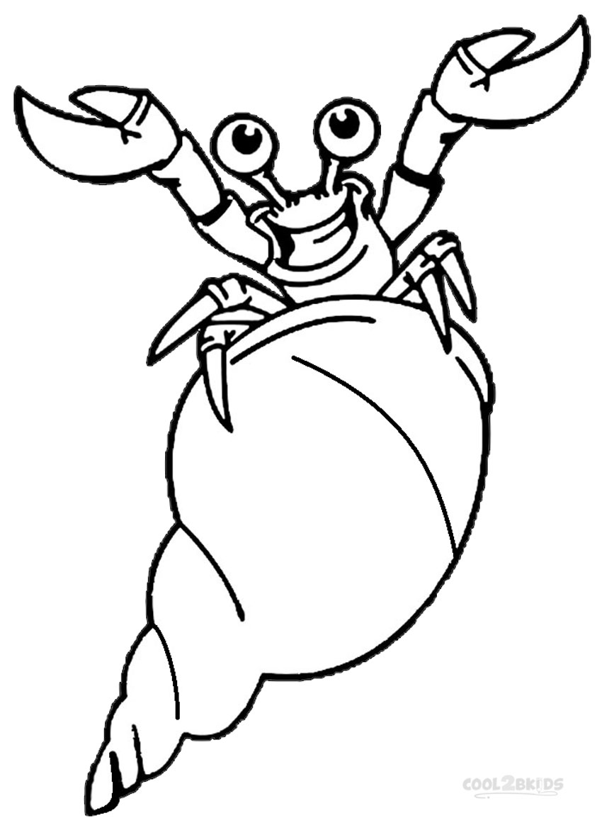 - Printable Hermit Crab Coloring Pages For Kids