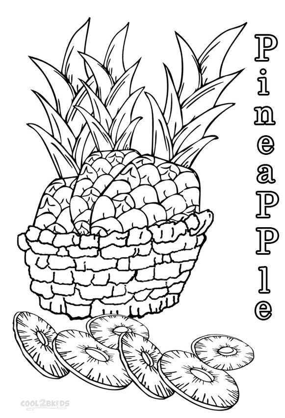 coloring pages pinaple - photo#24