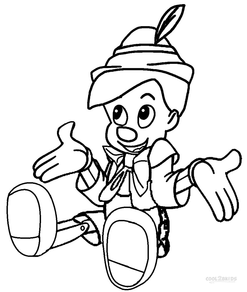 Printable Pinocchio Coloring Pages