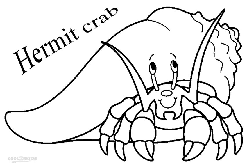 hermit crab coloring pages printable - Crab Coloring Pages