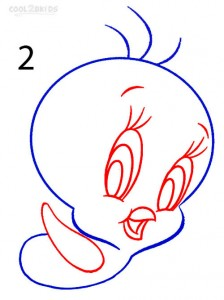 How to Draw Tweety Bird Step 2