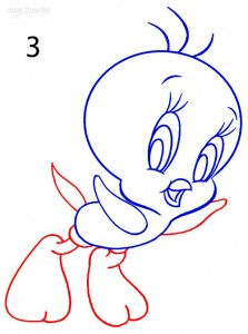 How to Draw Tweety Bird Step 3