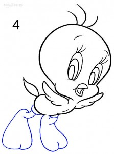 How to Draw Tweety Bird Step 4