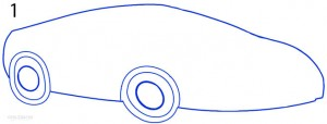 How to Draw a Lamborghini Step 1
