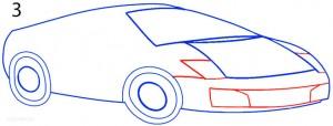How to Draw a Lamborghini Step 3