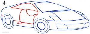 How to Draw a Lamborghini Step 4