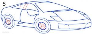 How to Draw a Lamborghini Step 5