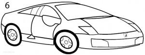 How to Draw a Lamborghini Step 6