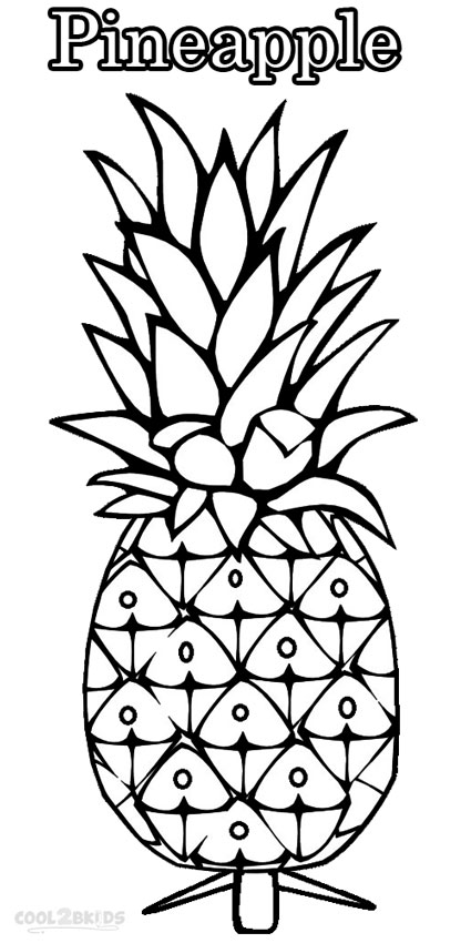 graphic about Printable Pineapple called Printable Pineapple Coloring Internet pages For Small children Neat2bKids