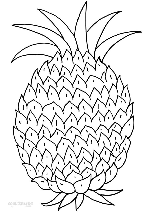 children coloring pages to print and color | Printable Pineapple Coloring Pages For Kids | Cool2bKids