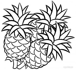 Pineapple Printable Coloring Pages