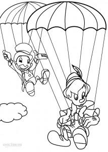 Pinocchio Free Coloring Sheets
