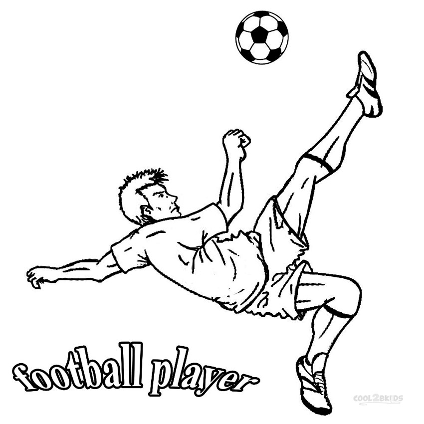 Printable Football Player Coloring
