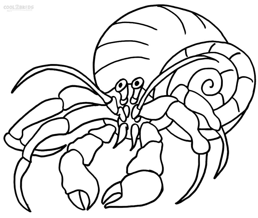 Crab #46 (Animals) – Printable coloring pages | 719x850