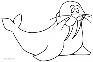 Printable Walrus Coloring Pages