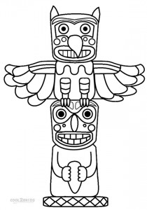 Totem Pole Coloring Pages Printable