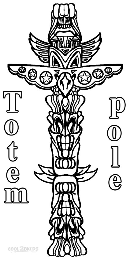 Totem pole coloring pages to print
