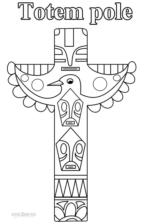 totem pole animal coloring pages - photo#29