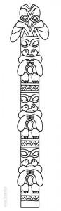 Totem Pole Coloring Sheets