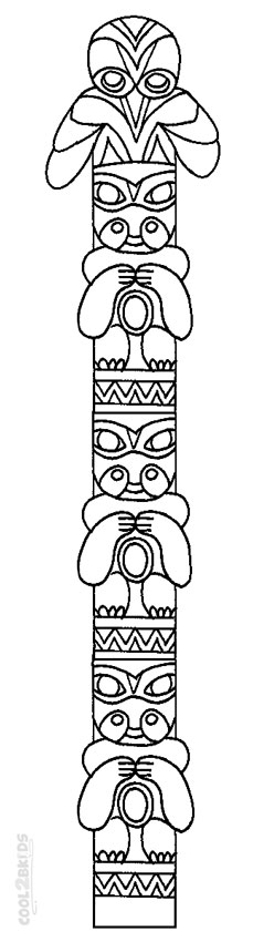 Totem Pole Coloring Sheets