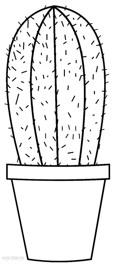 cactus images coloring pages - photo#11