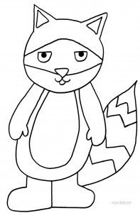 Coloring Pages of Raccoon