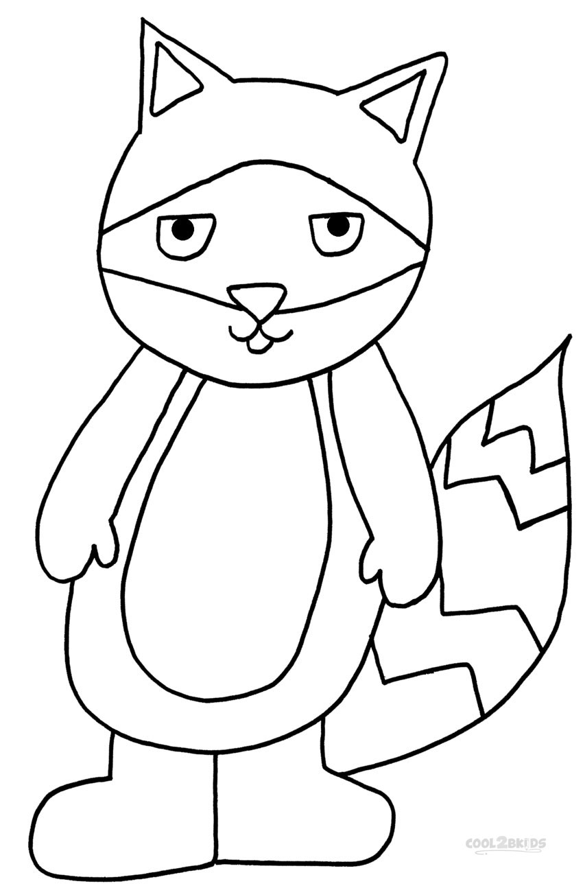 Printable Raccoon Coloring Pages For Kids | Cool2bKids