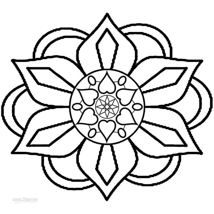 rangoli coloring pages Printable Rangoli Coloring Pages For Kids | Cool2bKids rangoli coloring pages
