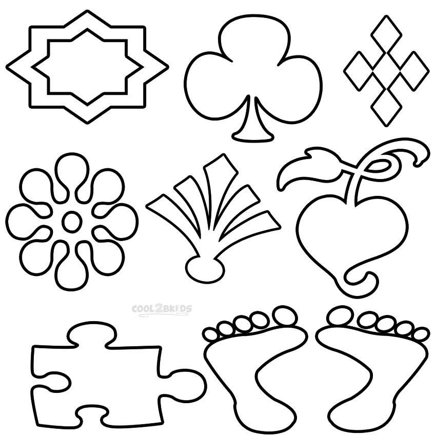coloring pages of different shapes - photo#35