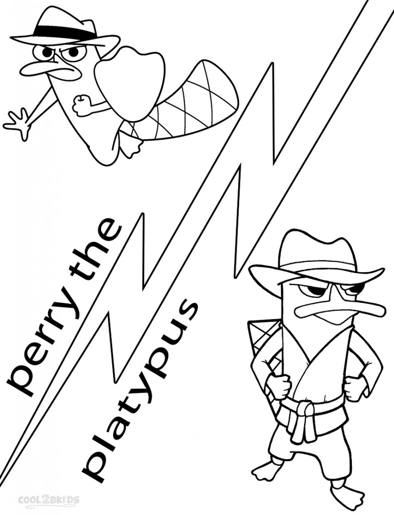 Agent p coloring pages - Perry The Platypus C
