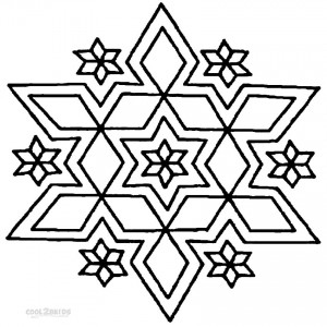 Printable Rangoli Coloring Pages
