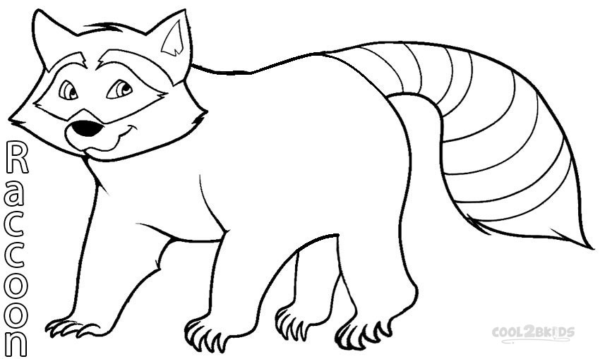 Printable Raccoon Coloring Pages